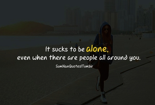 girl, alone, stylish, love, quote