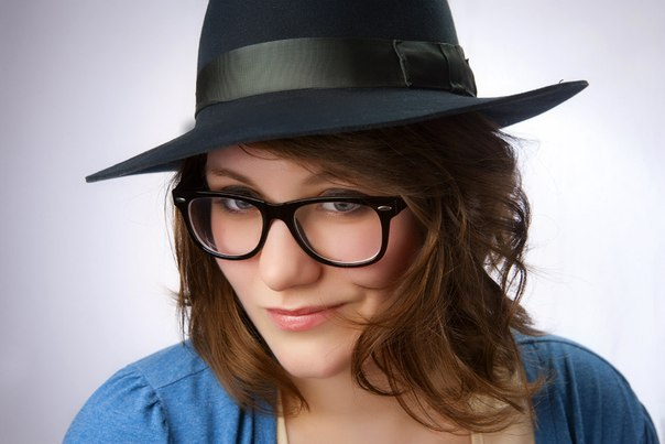 girl, beautiful, hat, glasses