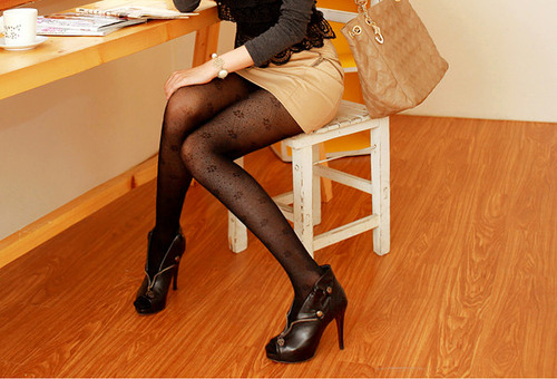 girl, heels, legs, shoes, tights