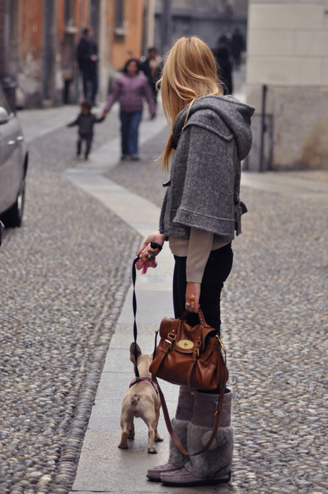 girl, pretty, dog, city, fashion