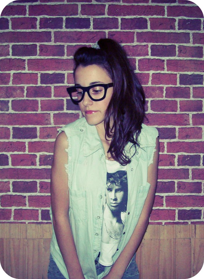 girl, rock, glasses, punk