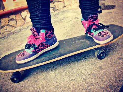 girl, skate, shoes, love, cute