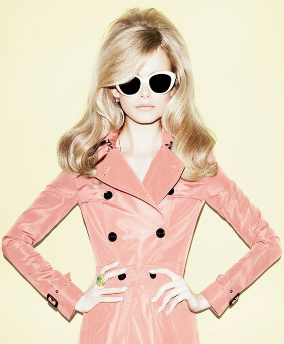 fashion, girl, pink, retro, style
