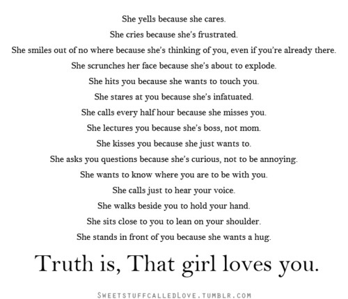 Girl Quotes About Love Tumblr : girls, quote, aww, love - image #547228 on Favim.com