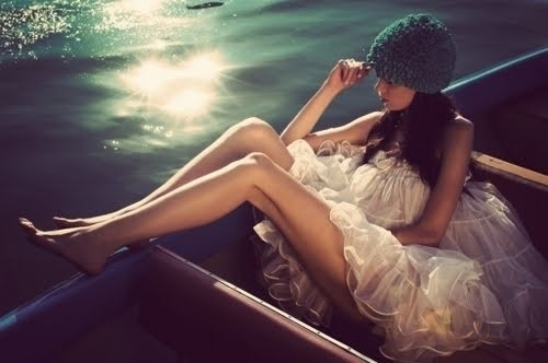 girls, water, boat, legs, dress