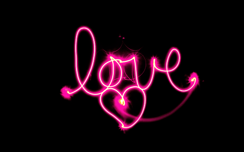 glow, love, pink, dark, light