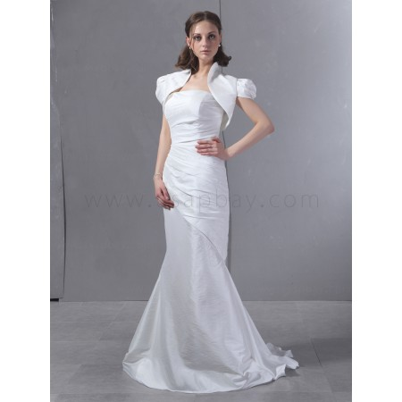 gorgeous fashion ivory taffeta trumpet/mermaid strapless court train wedding dress