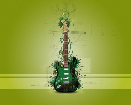 grase, green, guitar, music, music-guitar