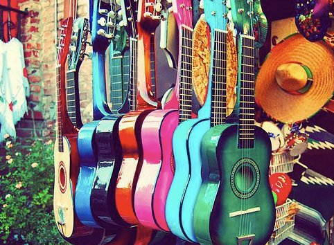 guitar, music, pretty