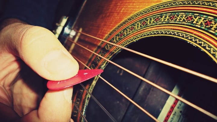 guitar, strings, pick, music, cute