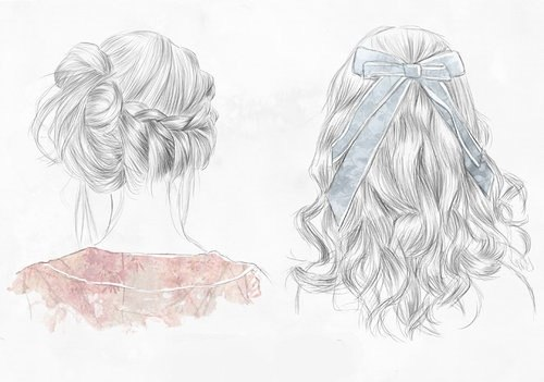art, girls, hair, illustration