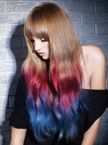 hair, long hair, color, dye, multi color