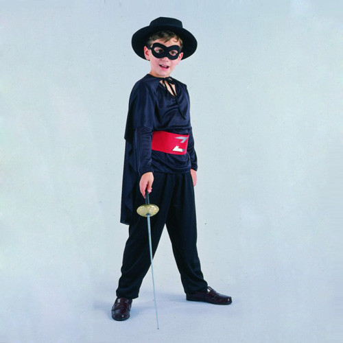 halloween black zorro kids costume