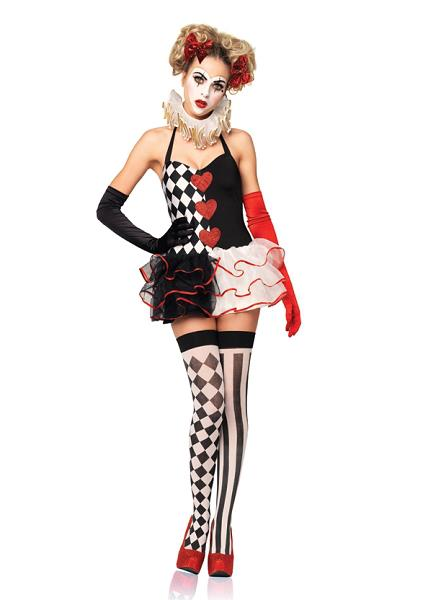 clown, halloween costume, make up, outfit