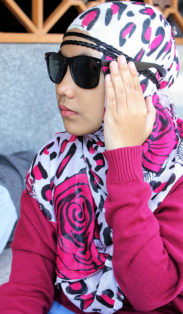 beautiful, cute, fashion, girl, girls, glasses, hijab, muslim, pretty, shawl, style