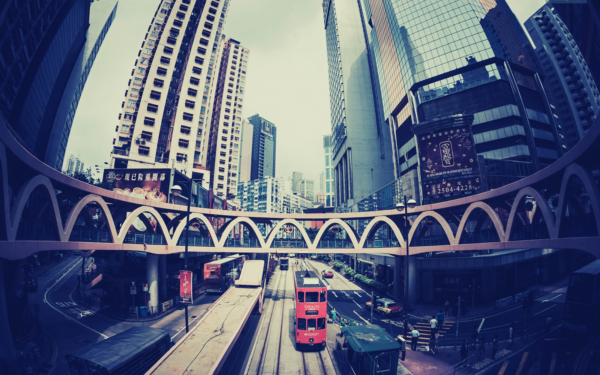 hong kong, fisheye effect, cities