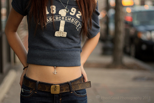 hot, cute, belly piercing, girl, style