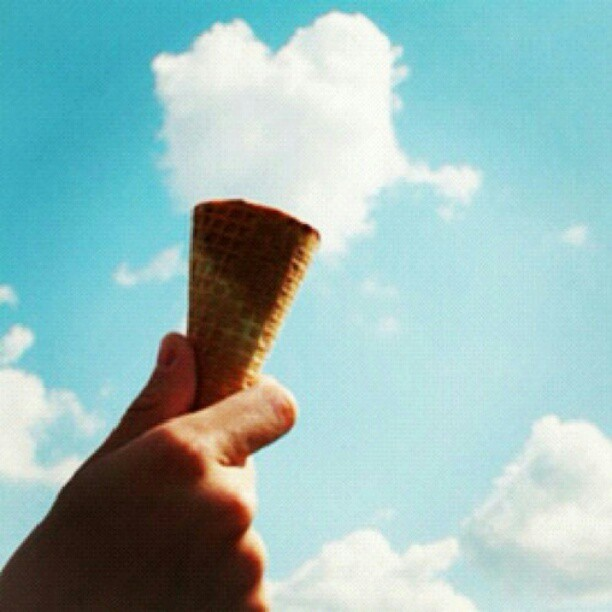 ice cream, hand, cool, awesome, sky