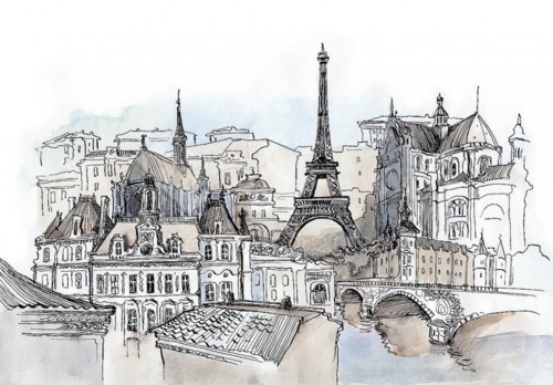 illustration, landmark, sketch, cute, fashion