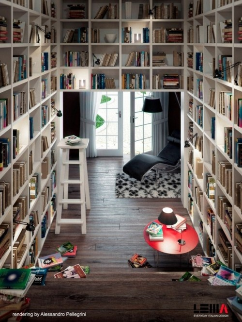 interior, design, bookcase, book, reading