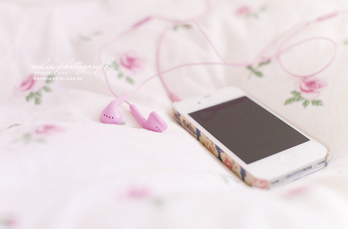 iphone, flower, pink