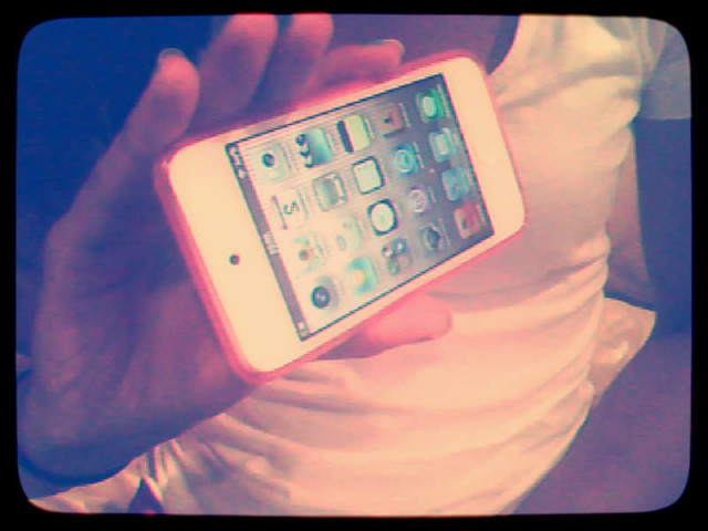 ipod, apple, pink, white, girl