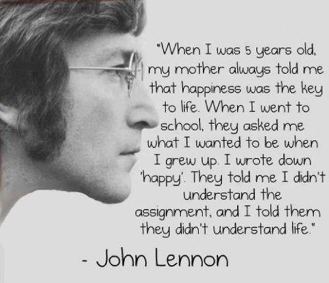 happiness, hope, inspiration, john lennon, life