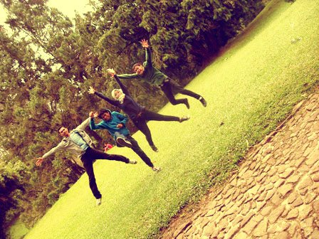 jumping with my friends
