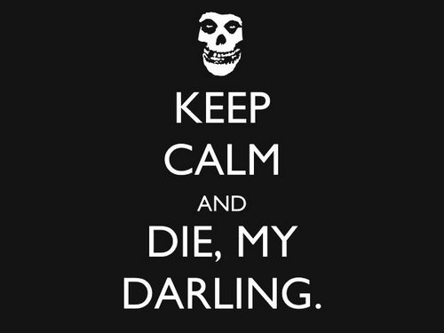 keep calm, die, text, horror, black and white