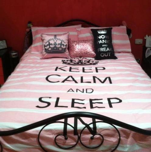 keep calm, sleep