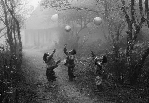 beautiful, kids, playing