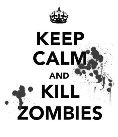 keep calm, kill, kill zombies, zombies