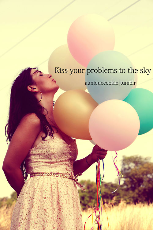 balloons, cute, dress, inspiration, kiss, problems