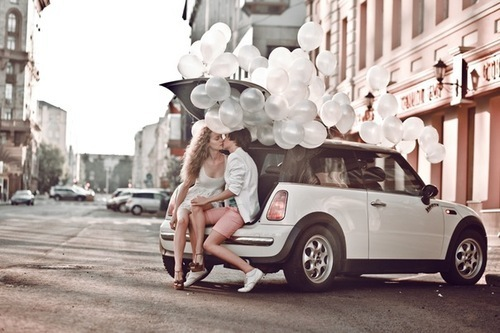 kiss, love, car, bubbles, couple