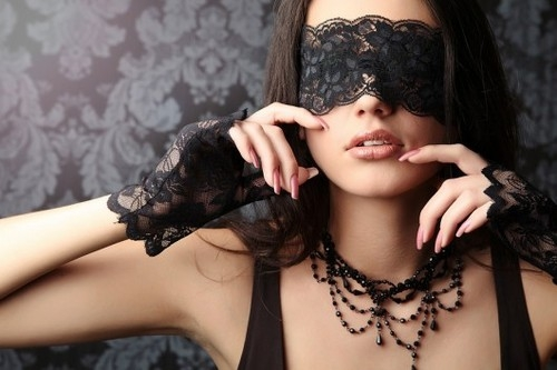 lace, blindfold, portrait, bw, fashion