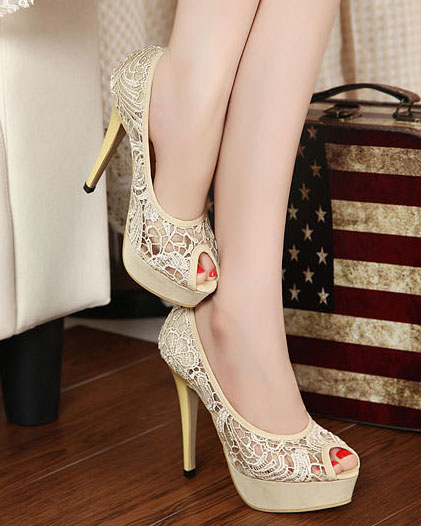 lace high heel shoes girls love