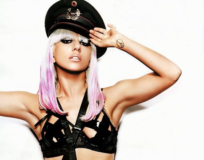 lady gaga, police officer, sexy