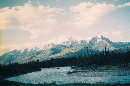 landscape, mountains, outdoors, photography, river
