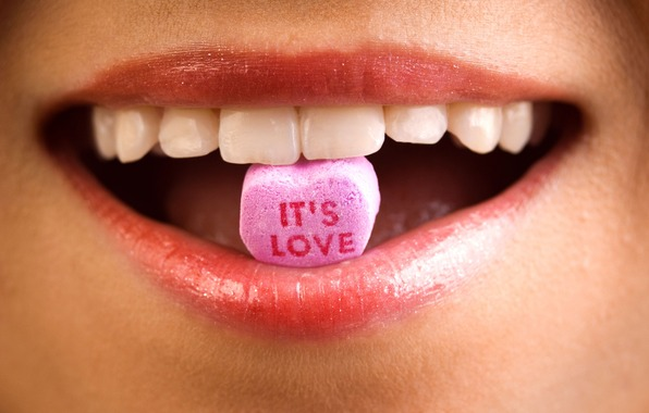 lips, candy, love