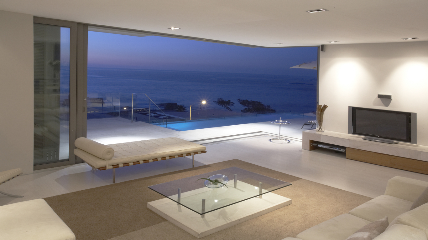 living room, sea