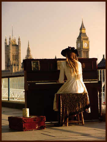 cute, elegant, girl, london, photography, piano