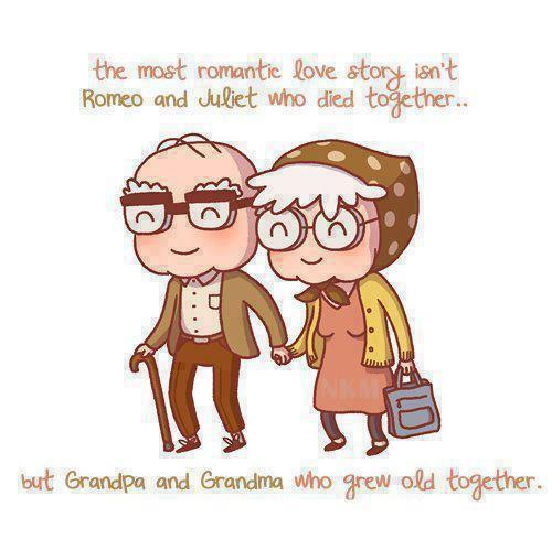 grandparents, love, old