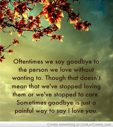 Love Quotes For Her To Say Goodnight : cute, goodbye, goodbye could say i love you, heartbreak, life, love ...