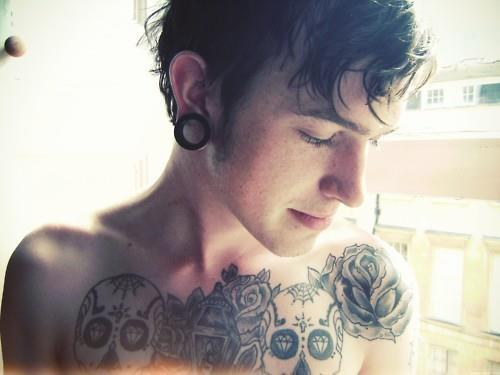 lovely, tattoo, boy, cute, fashion