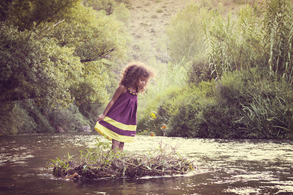 magic, girl, lake, trees, photography