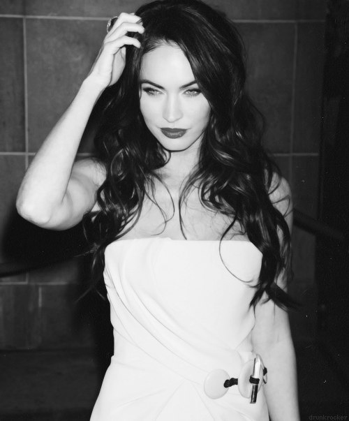 black and white, fox, megan, megan fox, sexy