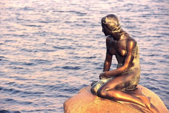 mermaid, copenhagen, maritime, harbour, statue