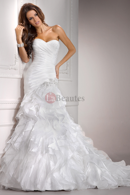 White Mermaid Wedding Dresses - Wedding Short Dresses