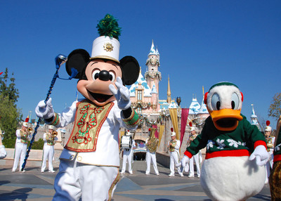 castle, christmas, cute, disney, disneyland, donald duck, mickey mouse