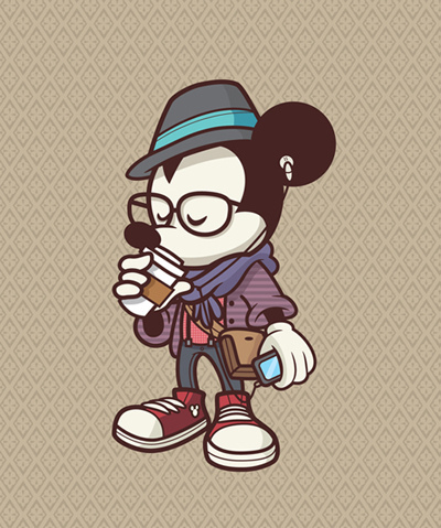mickey mouse, hipster, cool